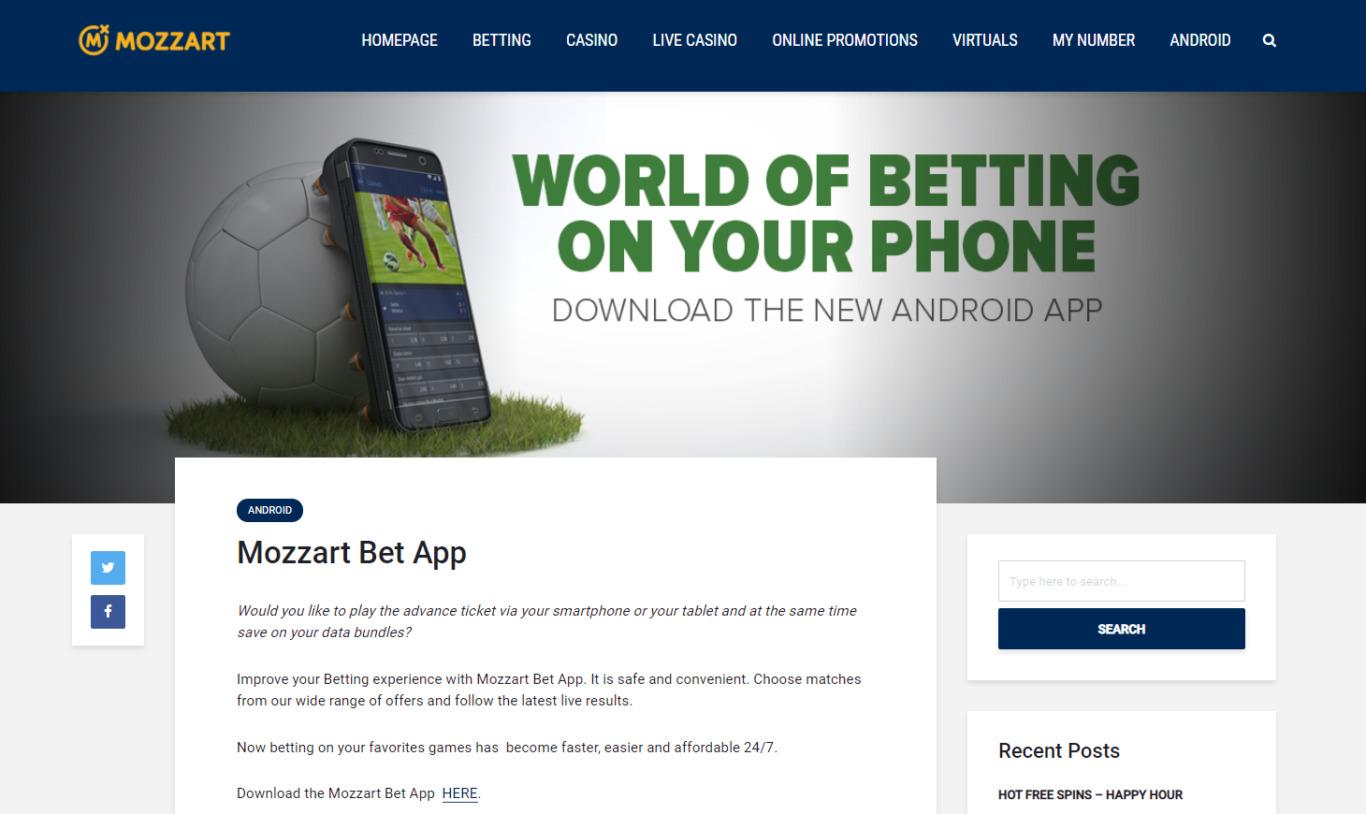 Mozzart Bet app